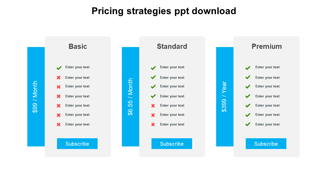 Business Pricing Strategies PPT Download