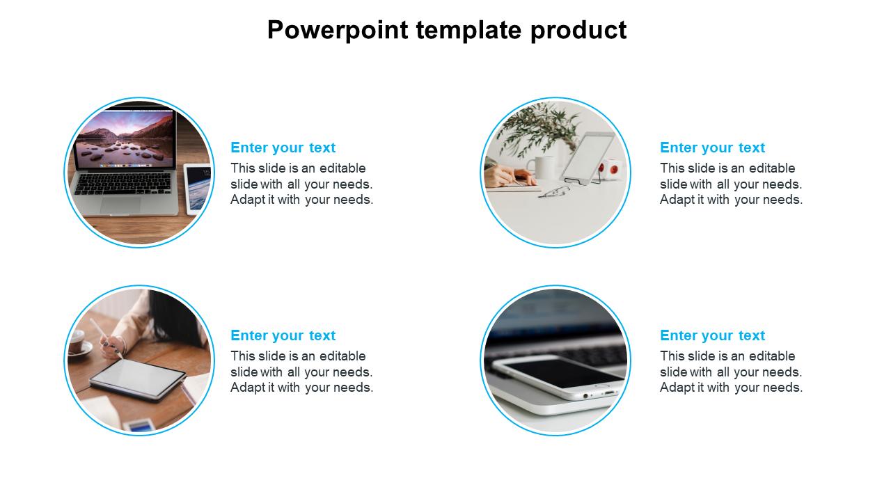 Portfolio Model Powerpoint Template Product