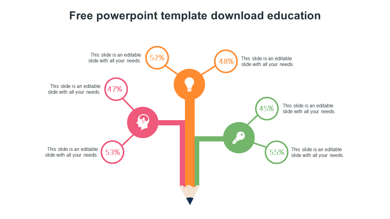 Free Powerpoint Template Download Education Model