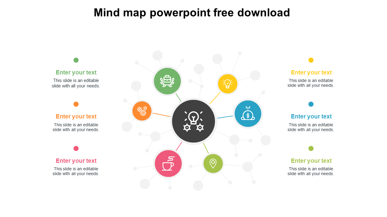 Free - Mind Map Powerpoint Free Download Slide