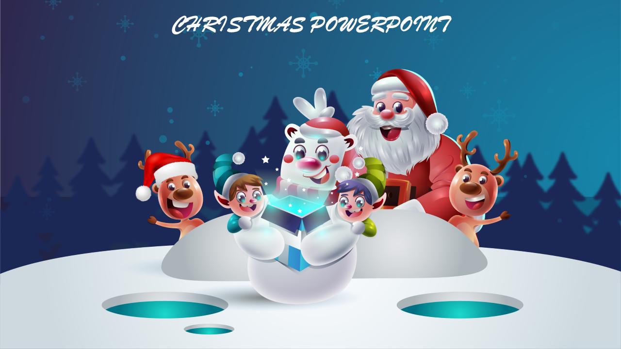 Celebrate Christmas Powerpoint Slideegg