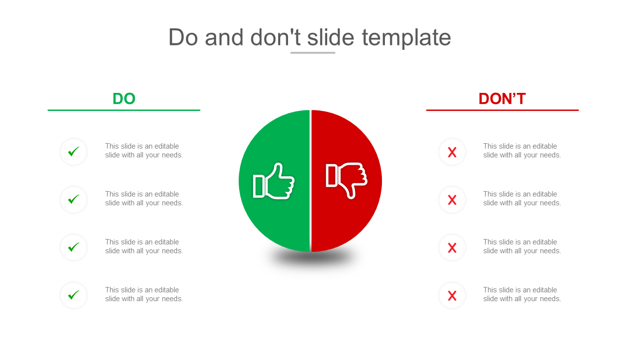 Do And Don't Slide Template Design