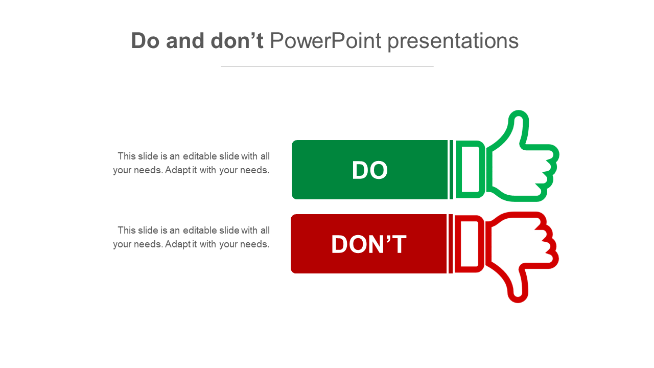 Simple Do And Don't PowerPoint Presentations