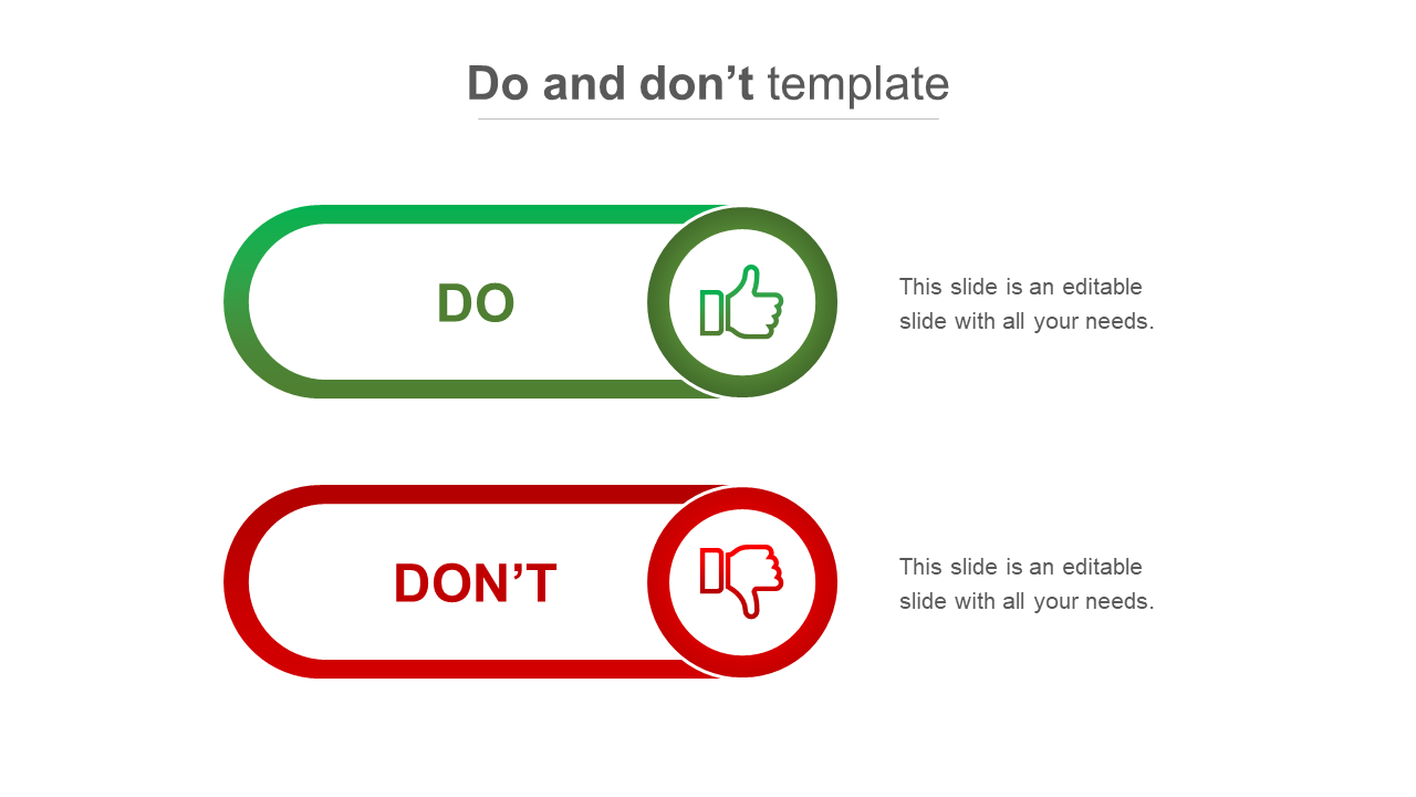 Use Do And Don't Template For Business