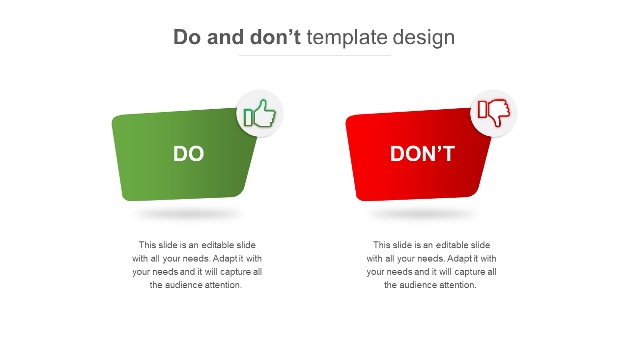 Do And Don't Template Design Model