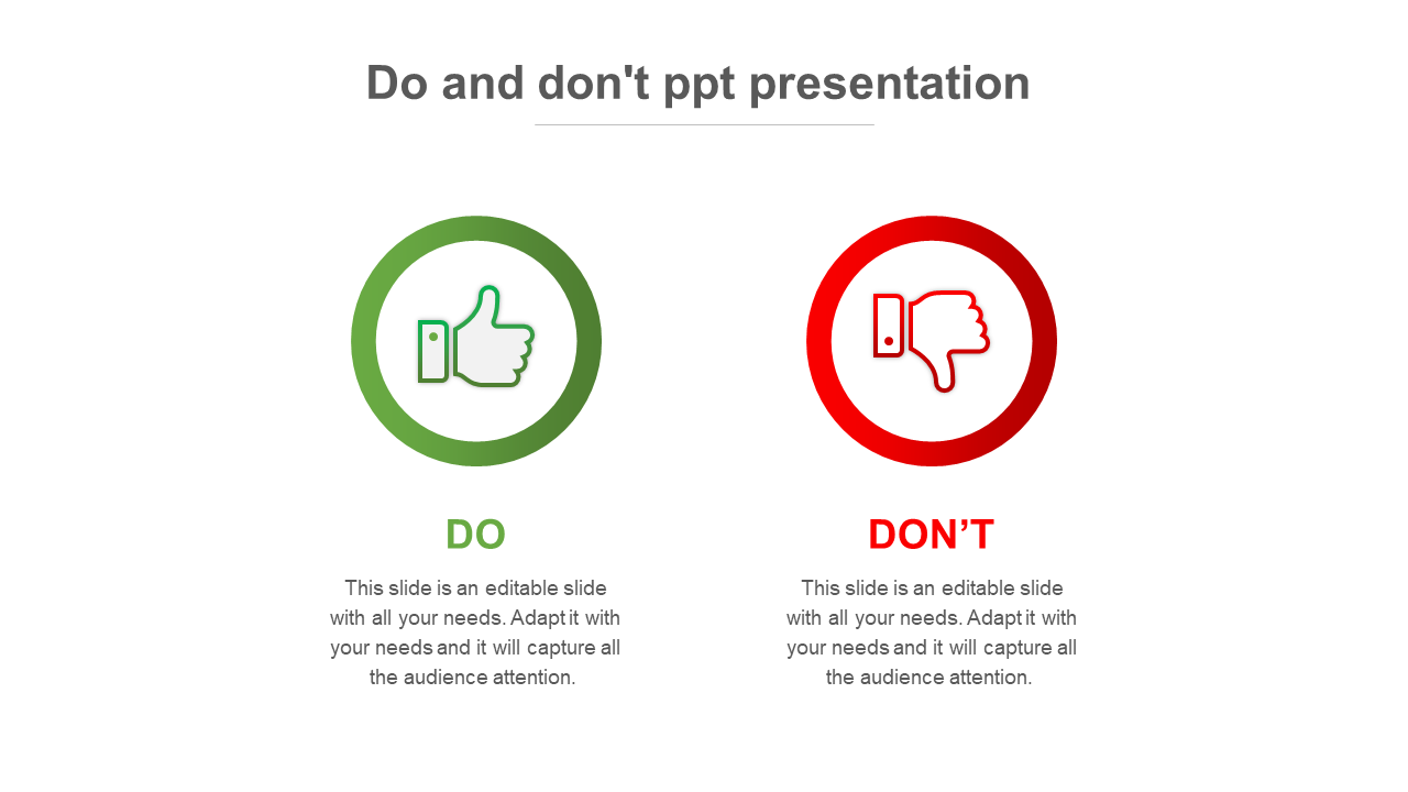 Do And Don't PPT Presentation Model For Clients