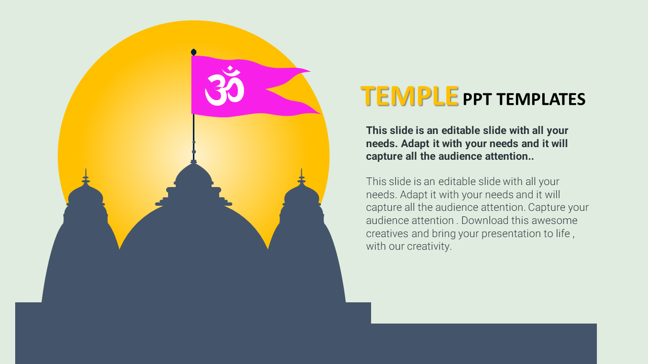 Temple PPT Templates Model