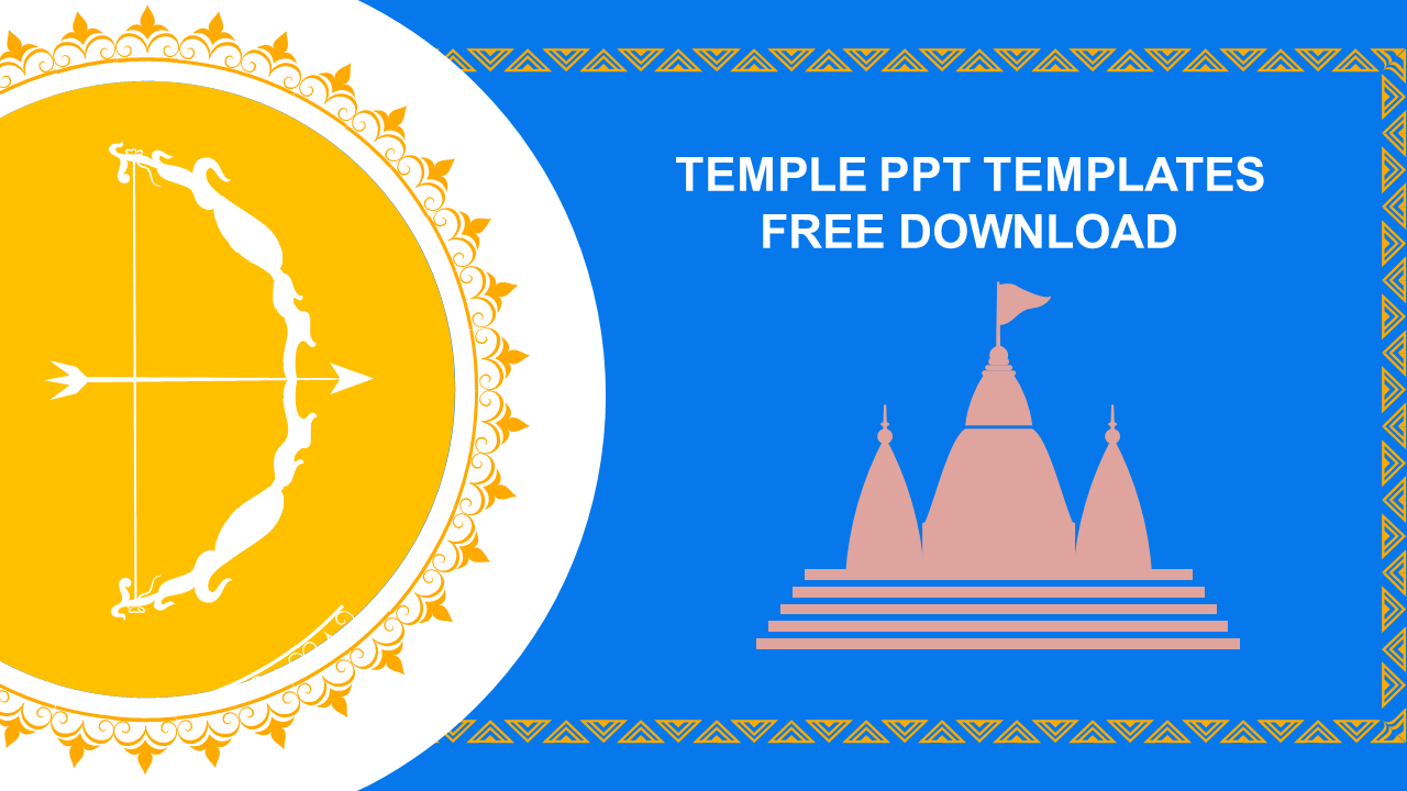 Temple PPT Templates Free Download Design