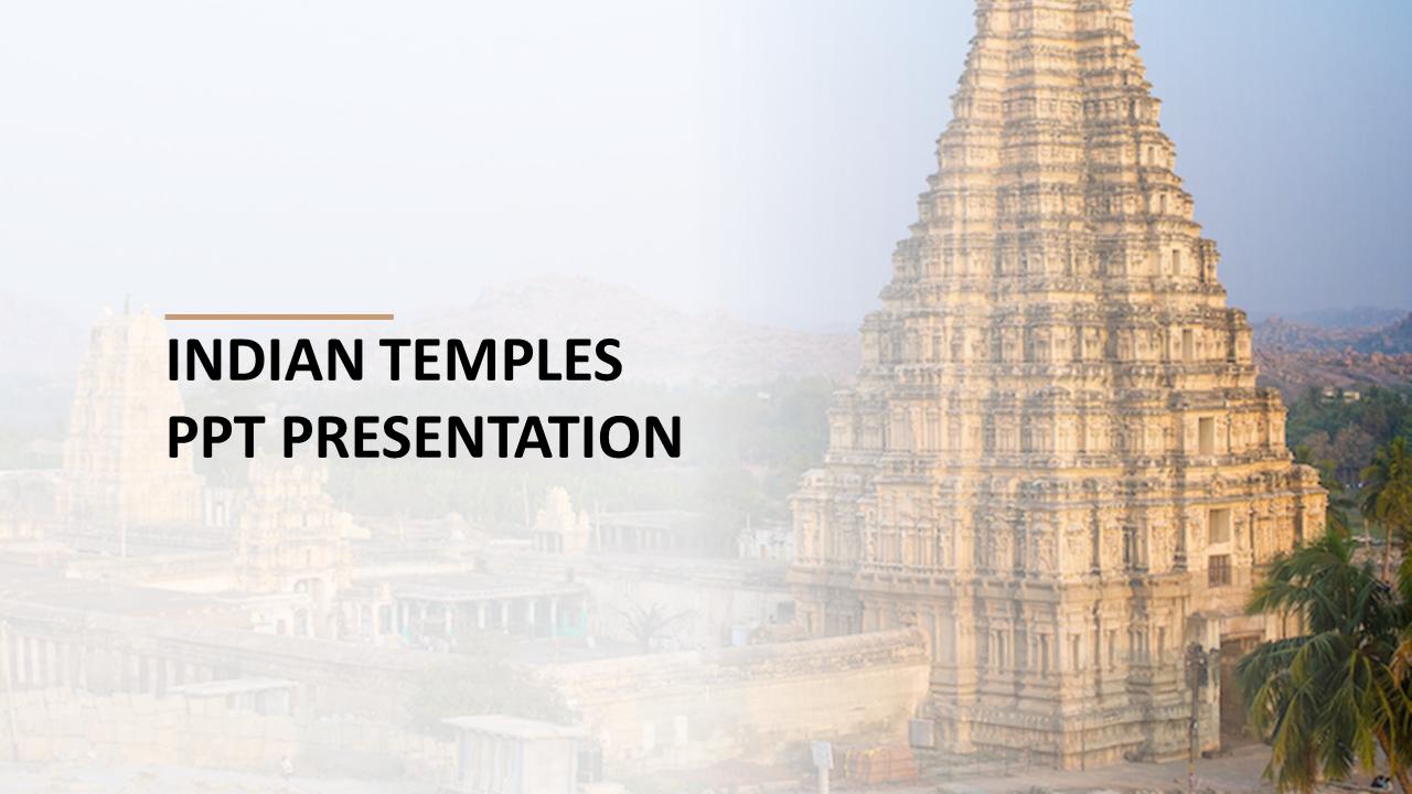 Indian Temples PPT Presentation Design