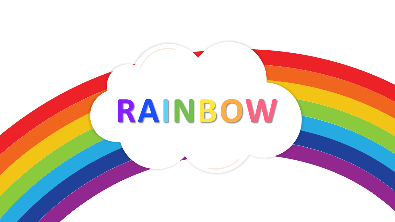 Attractive Rainbow Powerpoint Template