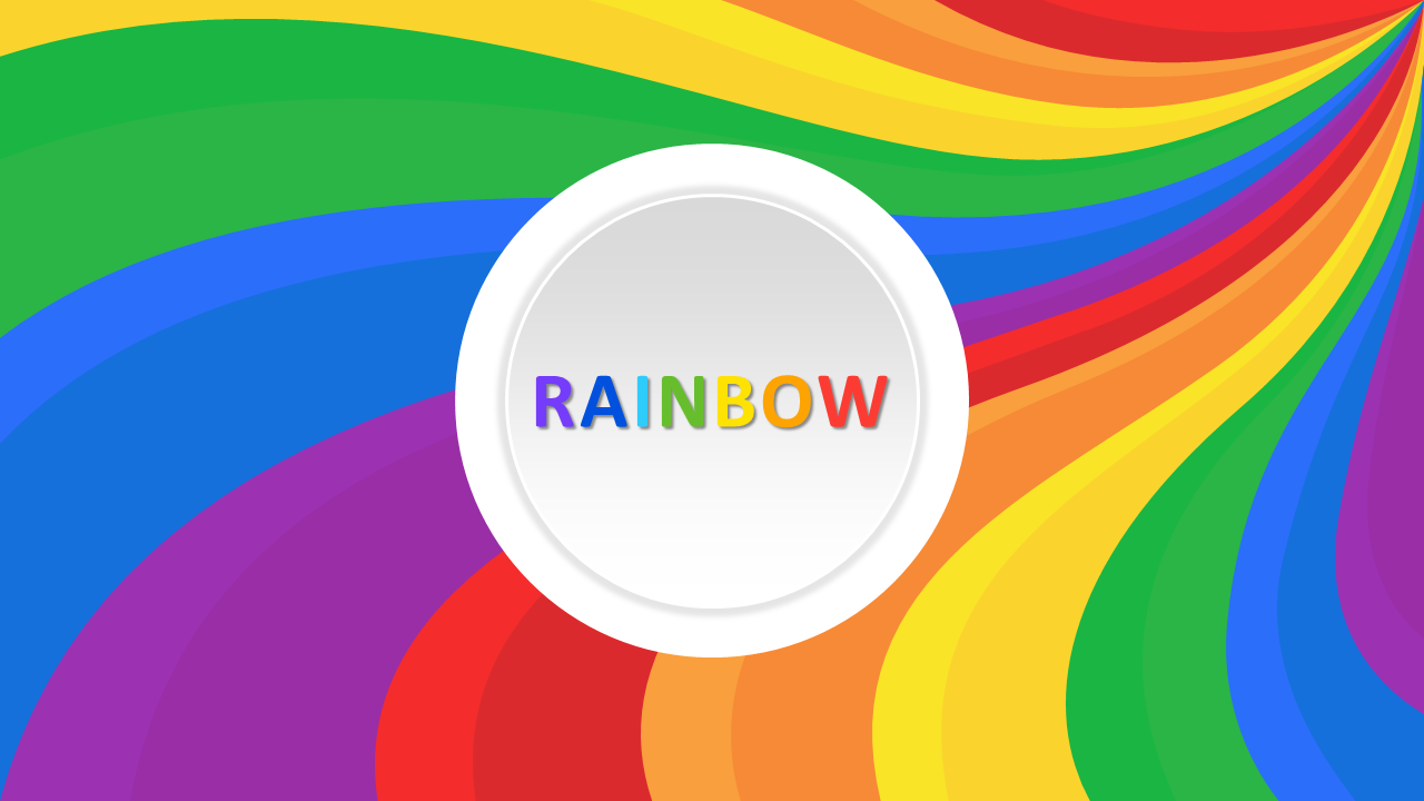 Elegant Rainbow Slides Templates Design