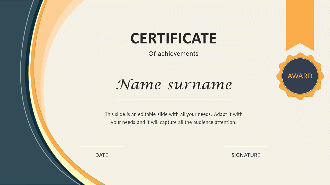 Appreciation Certificate Template PPT Design With Powerpoint Certificate Templates Free Download