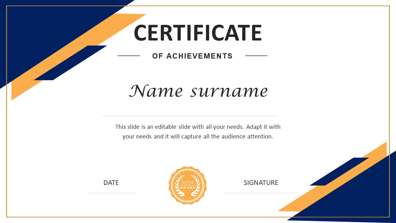 Excellent Certificate Of Training PPT Presentations Template In Powerpoint Certificate Templates Free Download