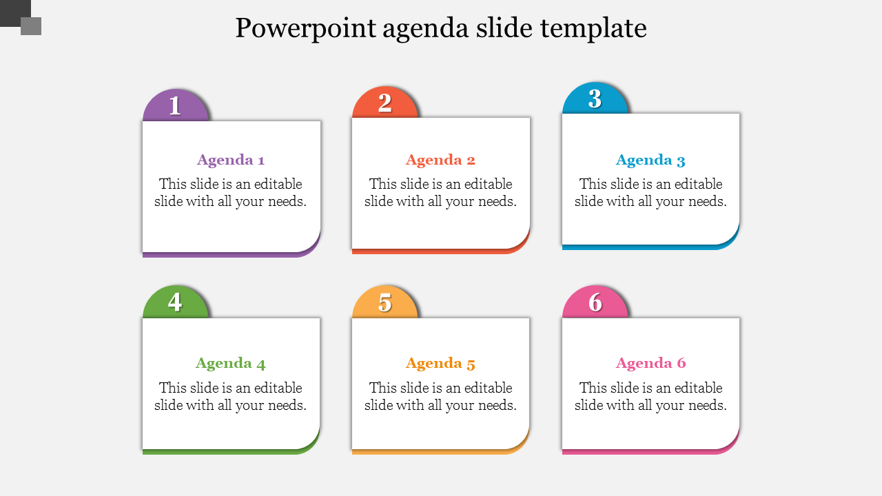 Infographic Powerpoint Agenda Slide Template