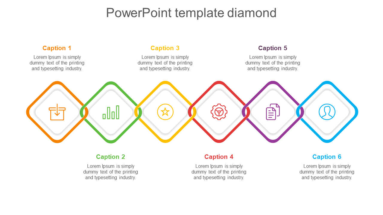 Powerpoint Template Diamond Model