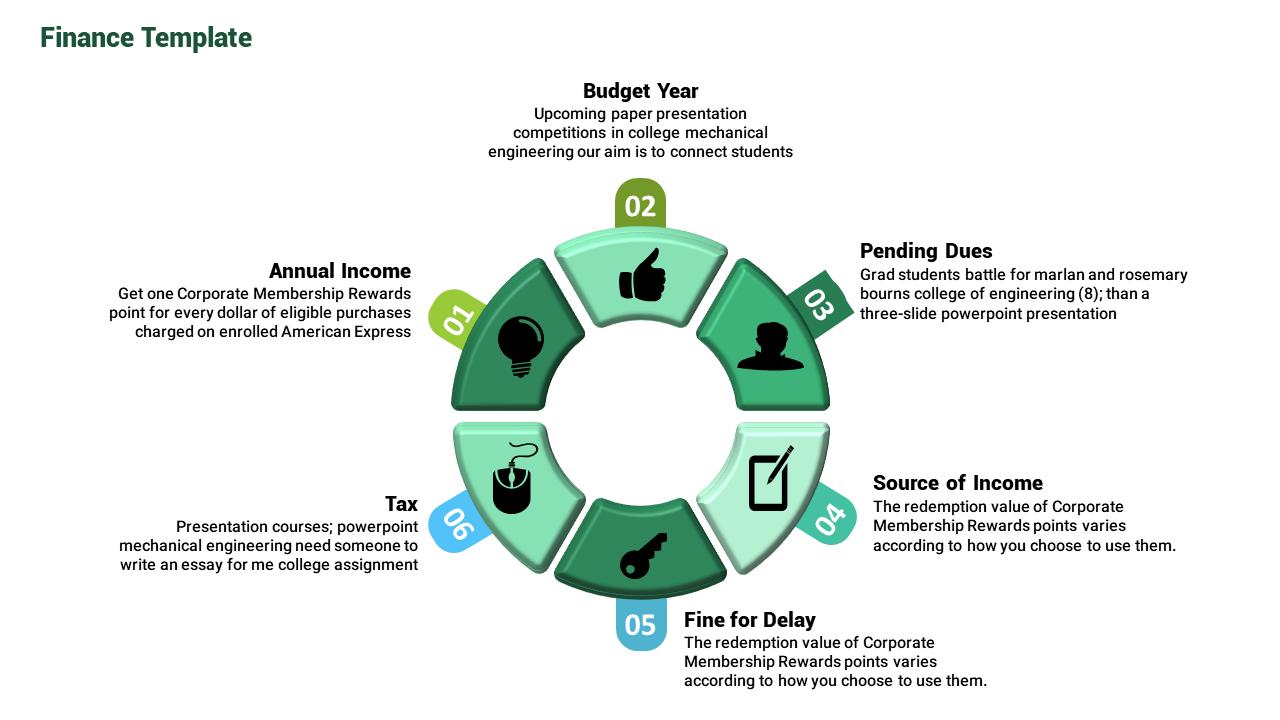 Finance Powerpoint Template Circle Model Slideegg