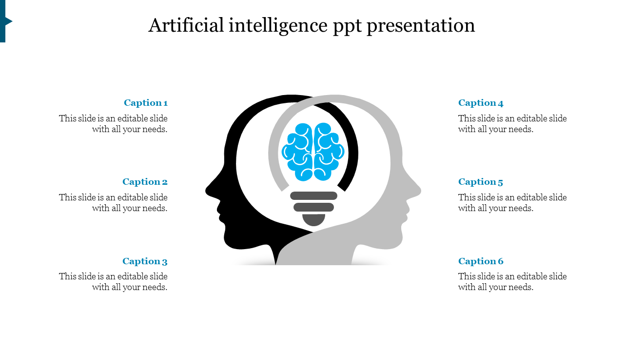 Artificial Intelligence PPT Presentation - Android robot