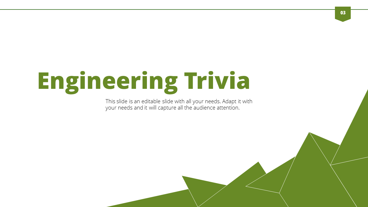 Engineering Powerpoint Template With Triangle Background Gesign