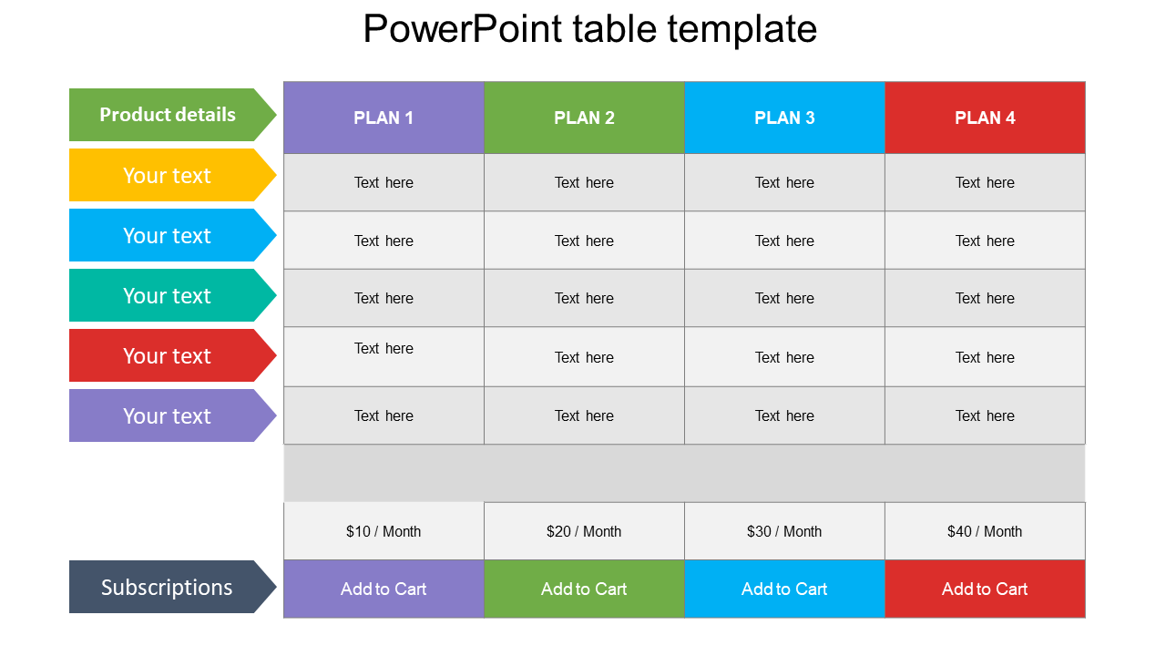 Free Powerpoint Table Template Slideegg