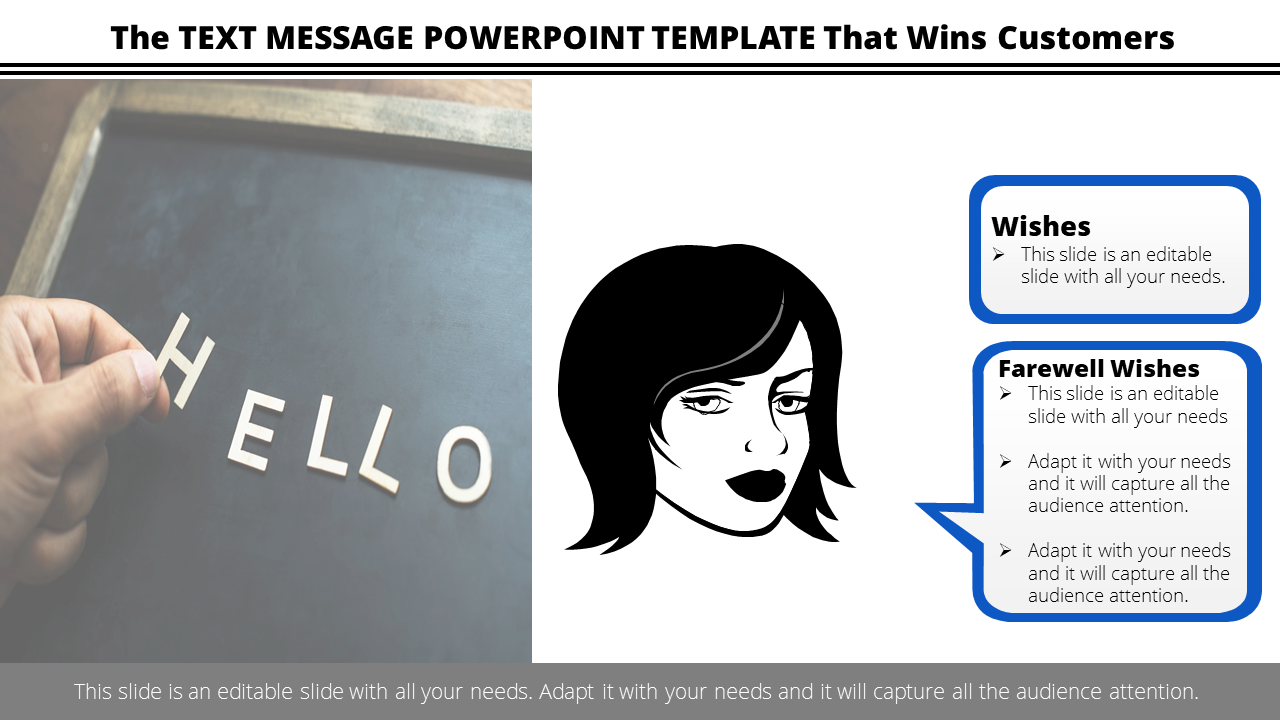Free- Text Message Powerpoint Template For Communication