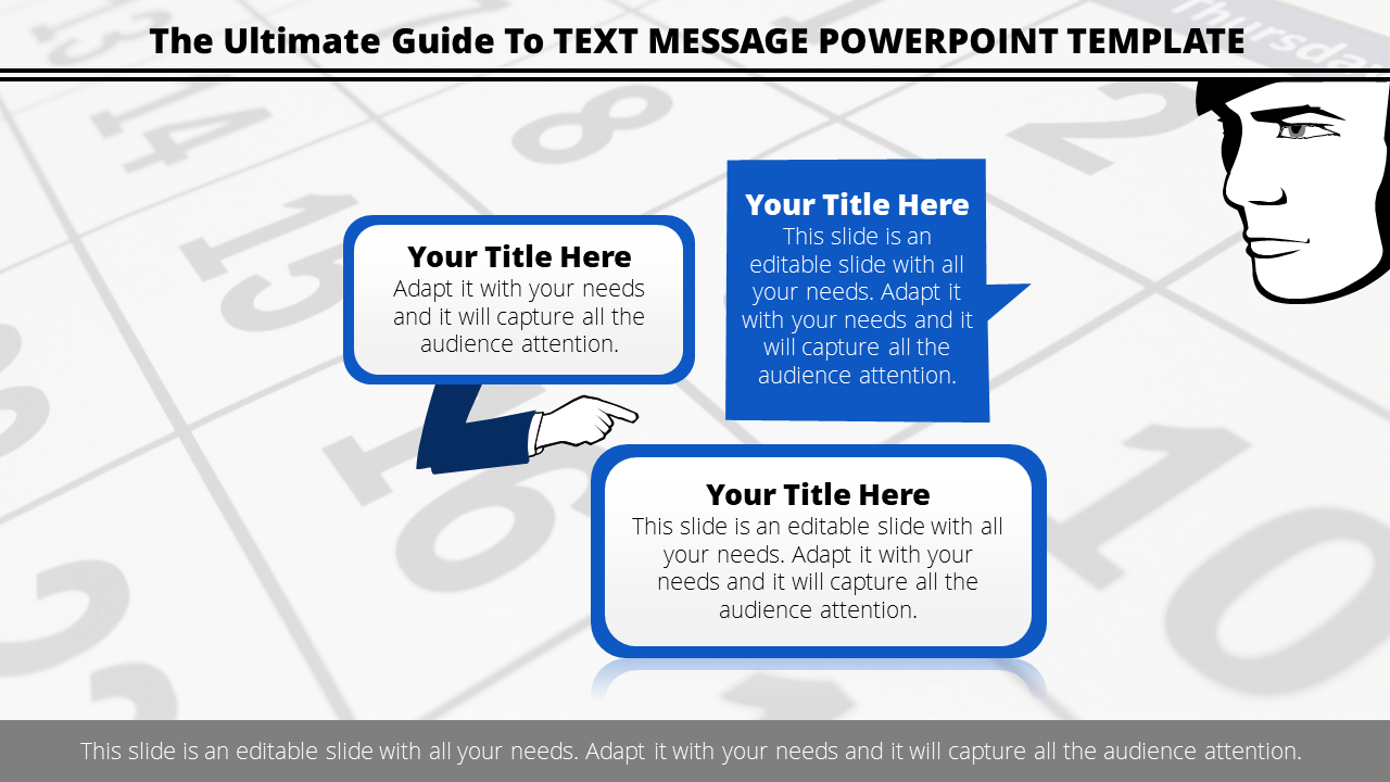 Free-Text Message Powerpoint Template With Callouts Design