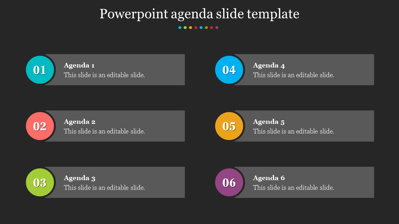 Best Powerpoint Agenda Slide Template presentation