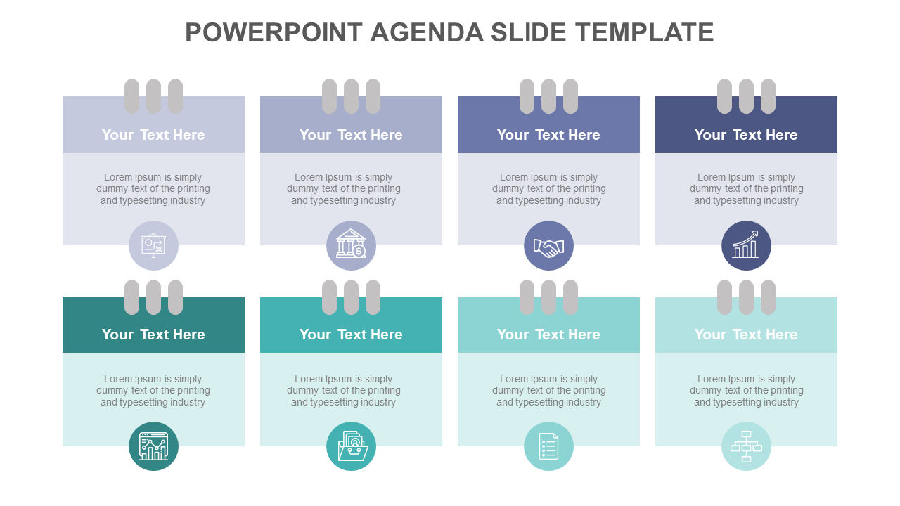 PowerPoint Agenda Slide Template - Notepad