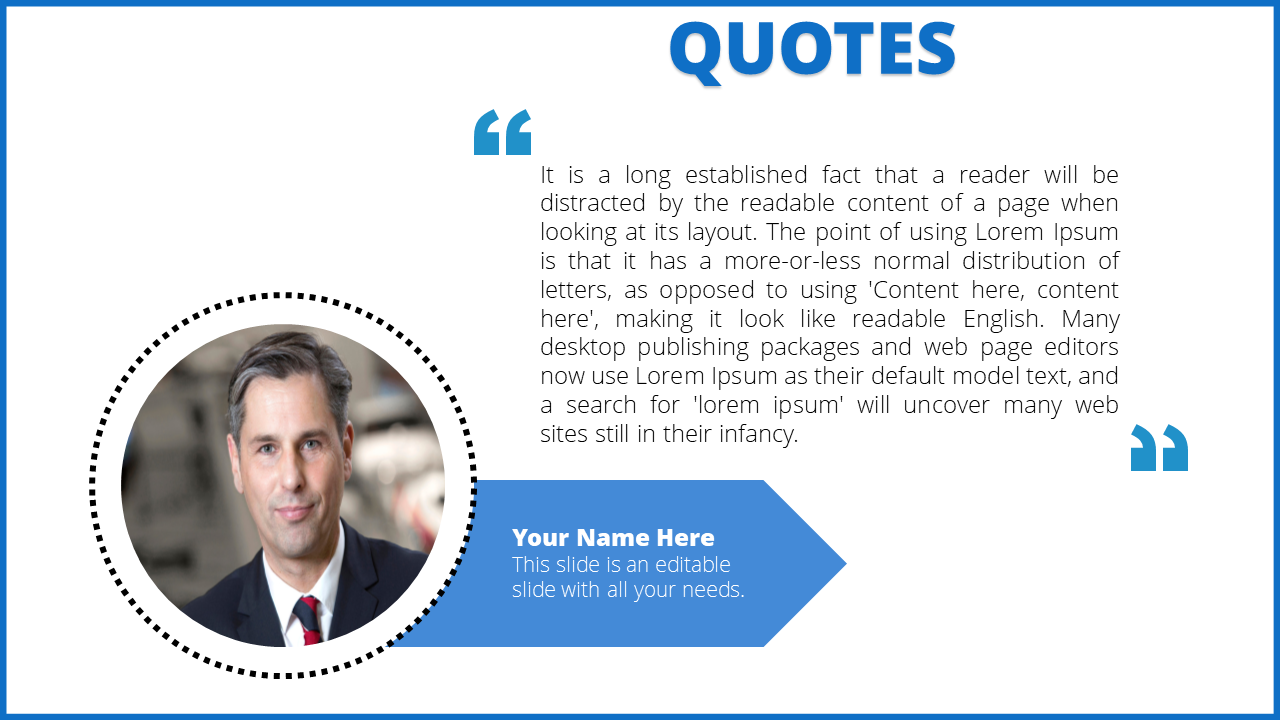 Powerpoint Quote Template Arrow Model
