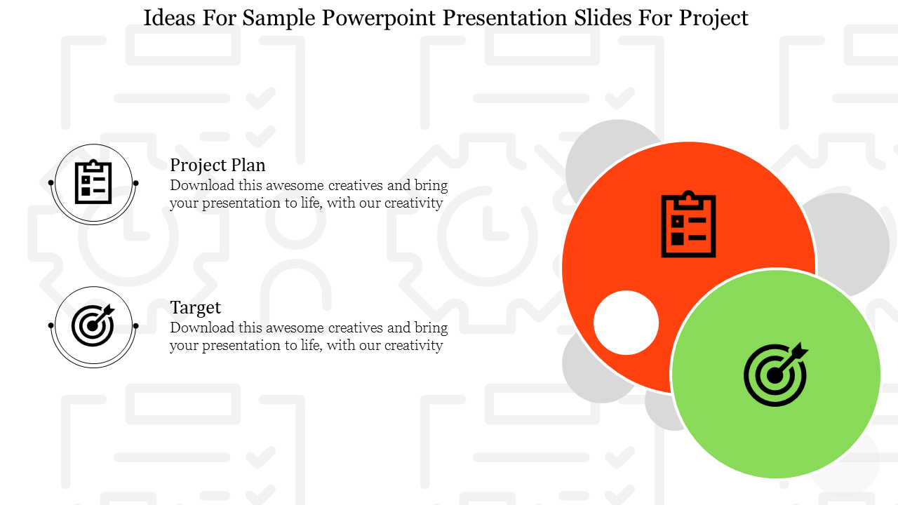 Sample Powerpoint Presentation Template With Some Backgroud Image Slideegg