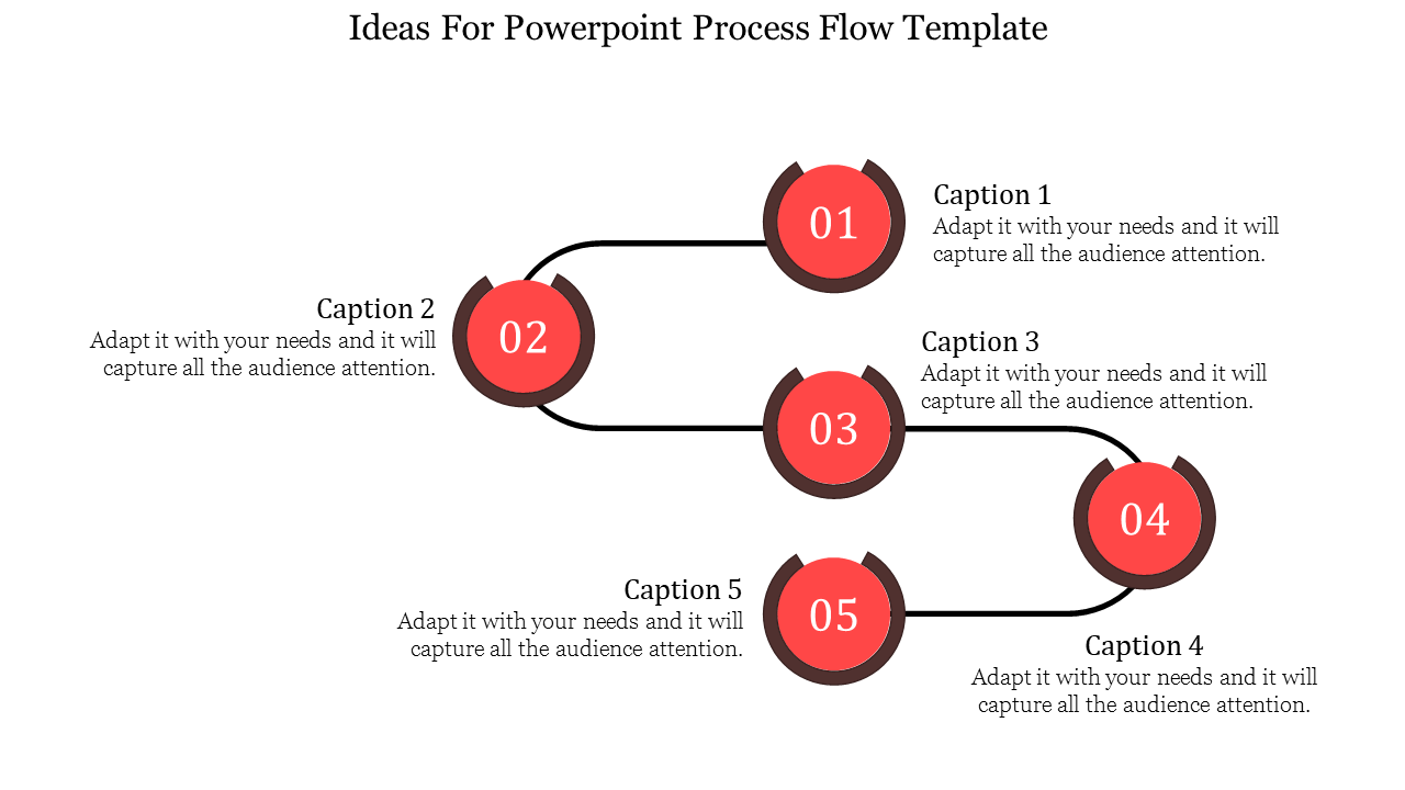 Connected Business Powerpoint Process Flow Template