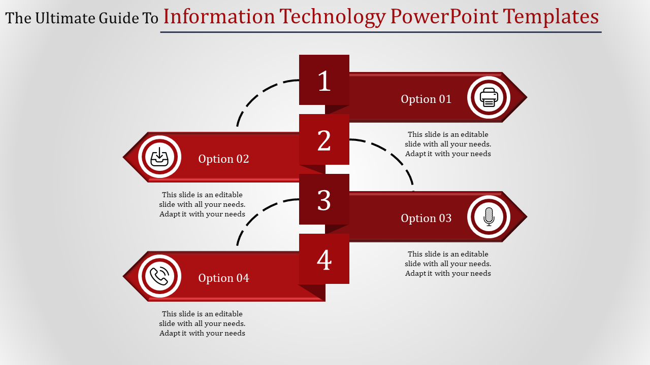 Information technology PowerPoint template-Stripe model