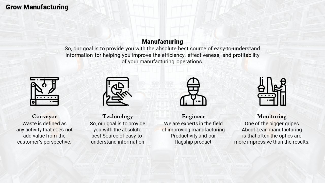 A Manufacturing Powerpoint Template