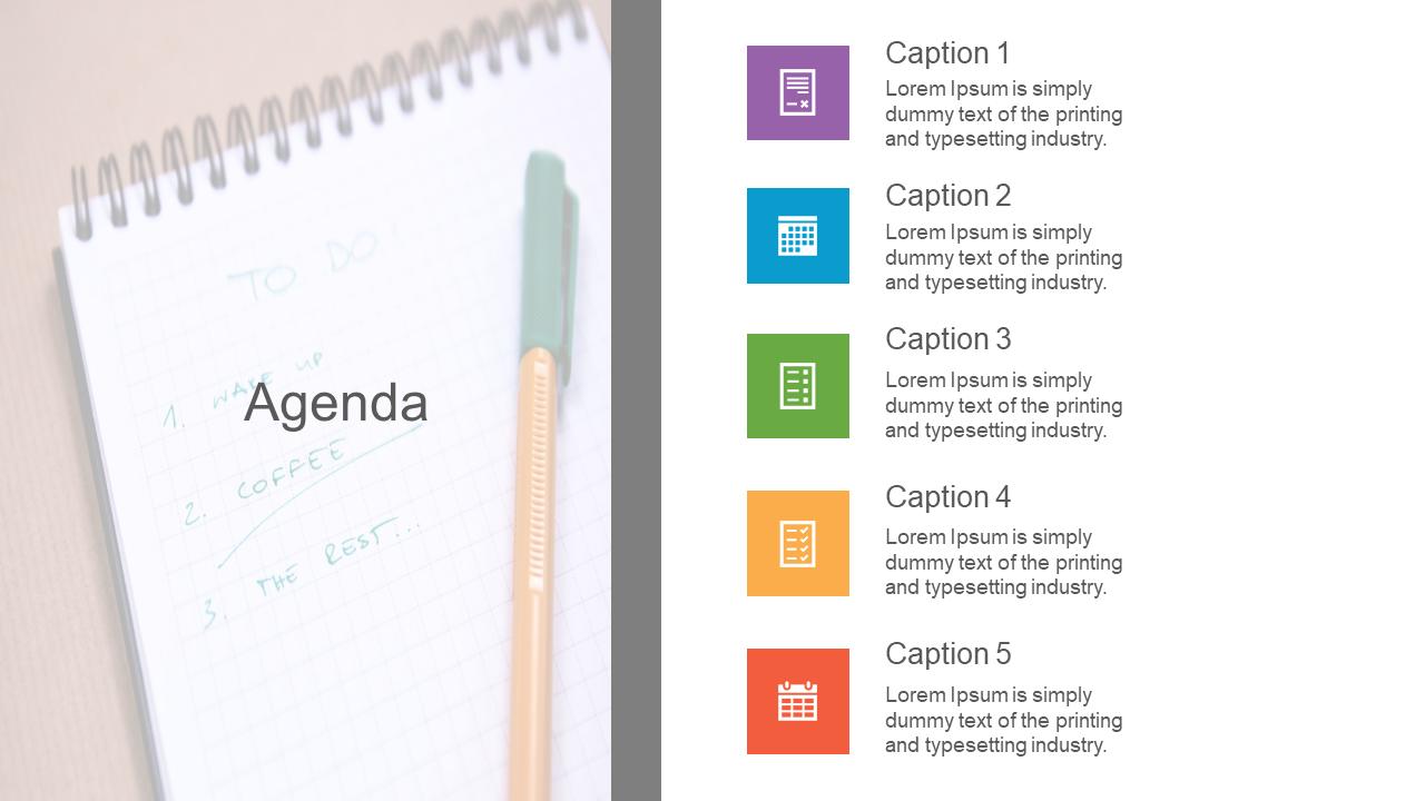 The Best  Agenda PPT Design Slide