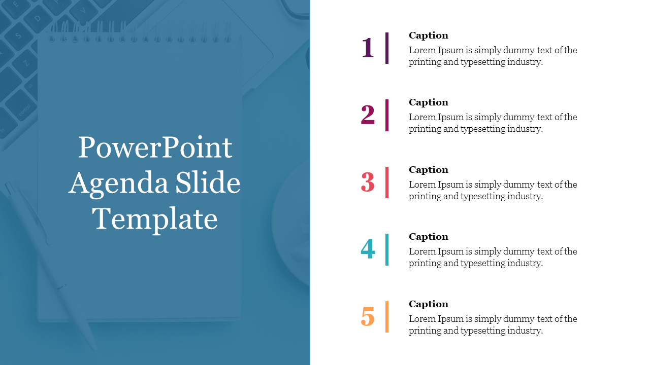 A Powerpoint Agenda Slide Template Presentation