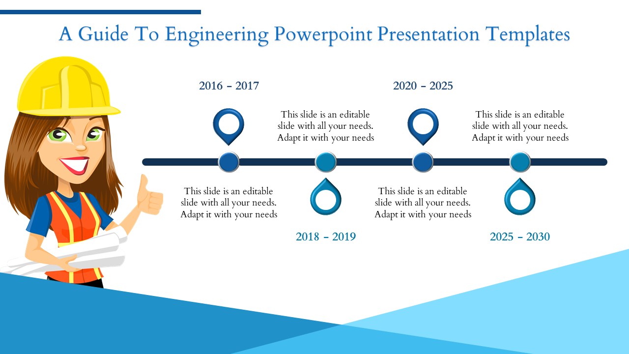Engineering Powerpoint Presentation Template Timeline Slideegg