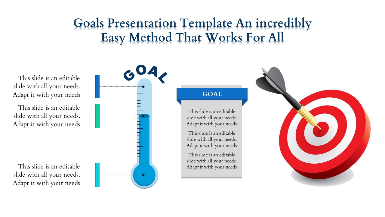 Free-Goals Presentation Template With Dart Board