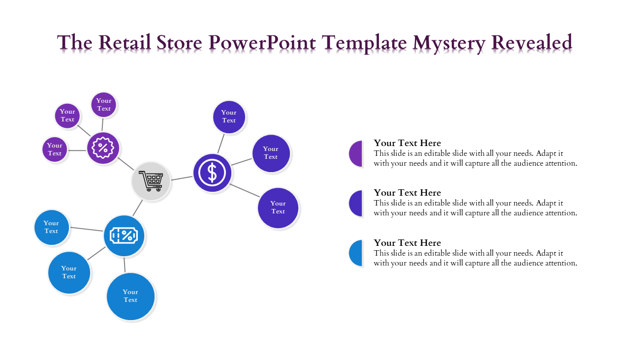 Grouped Circle Retail Store Powerpoint Template