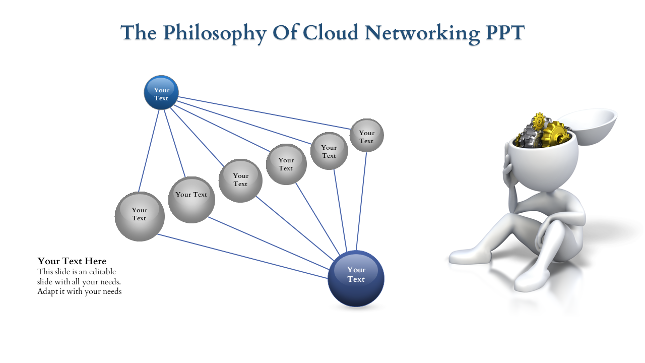 Cloud Networking PPT With Clipart