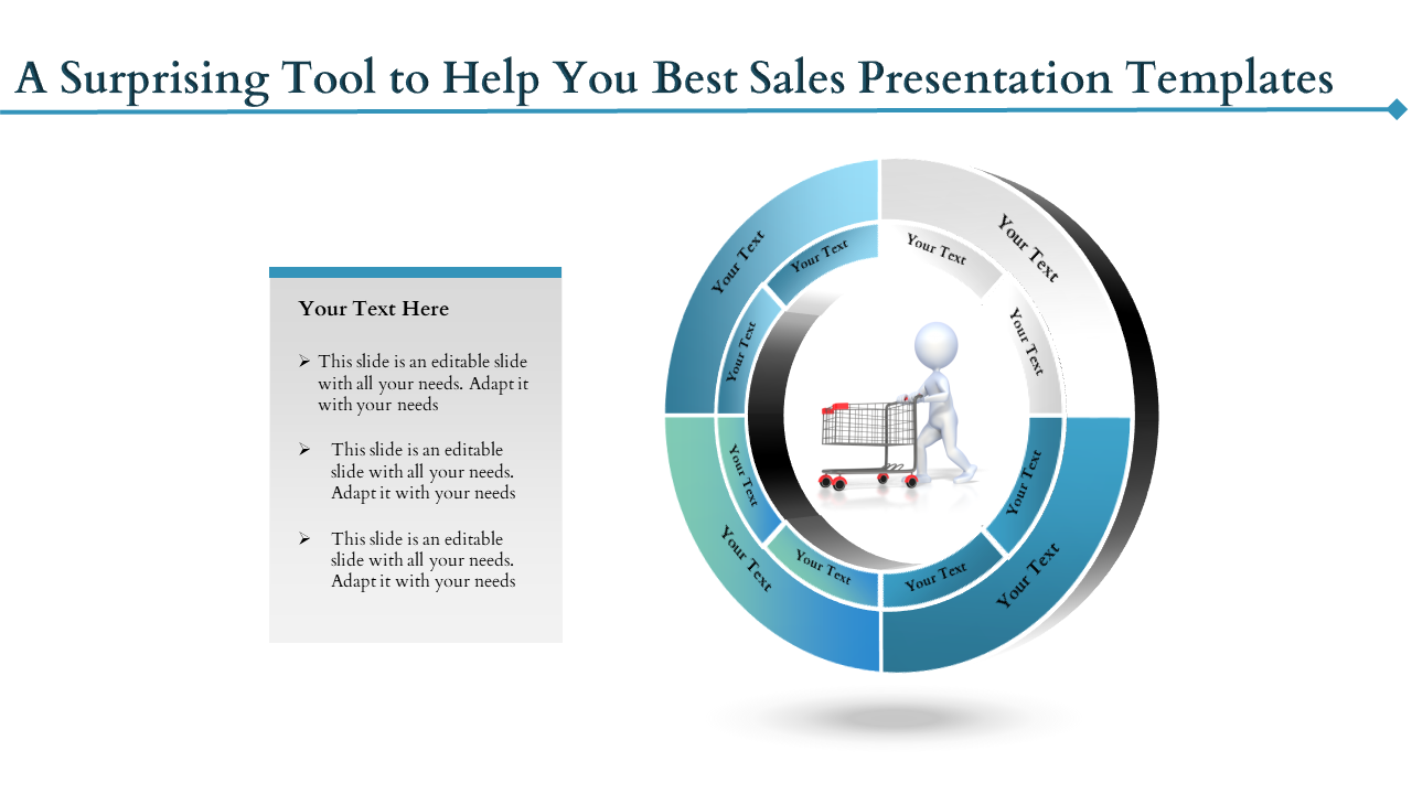 Free-Best Sales Presentation Templates With Donut Shape