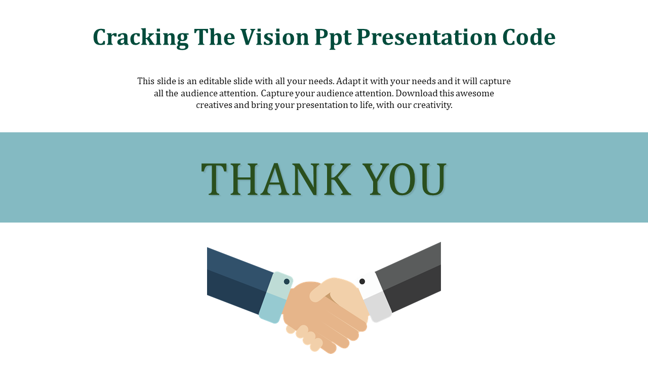 SlideEgg | vision ppt presentation-Cracking The Vision Ppt