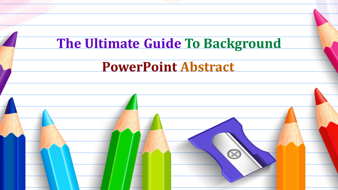 Education Background Powerpoint Abstract-pencil Theme