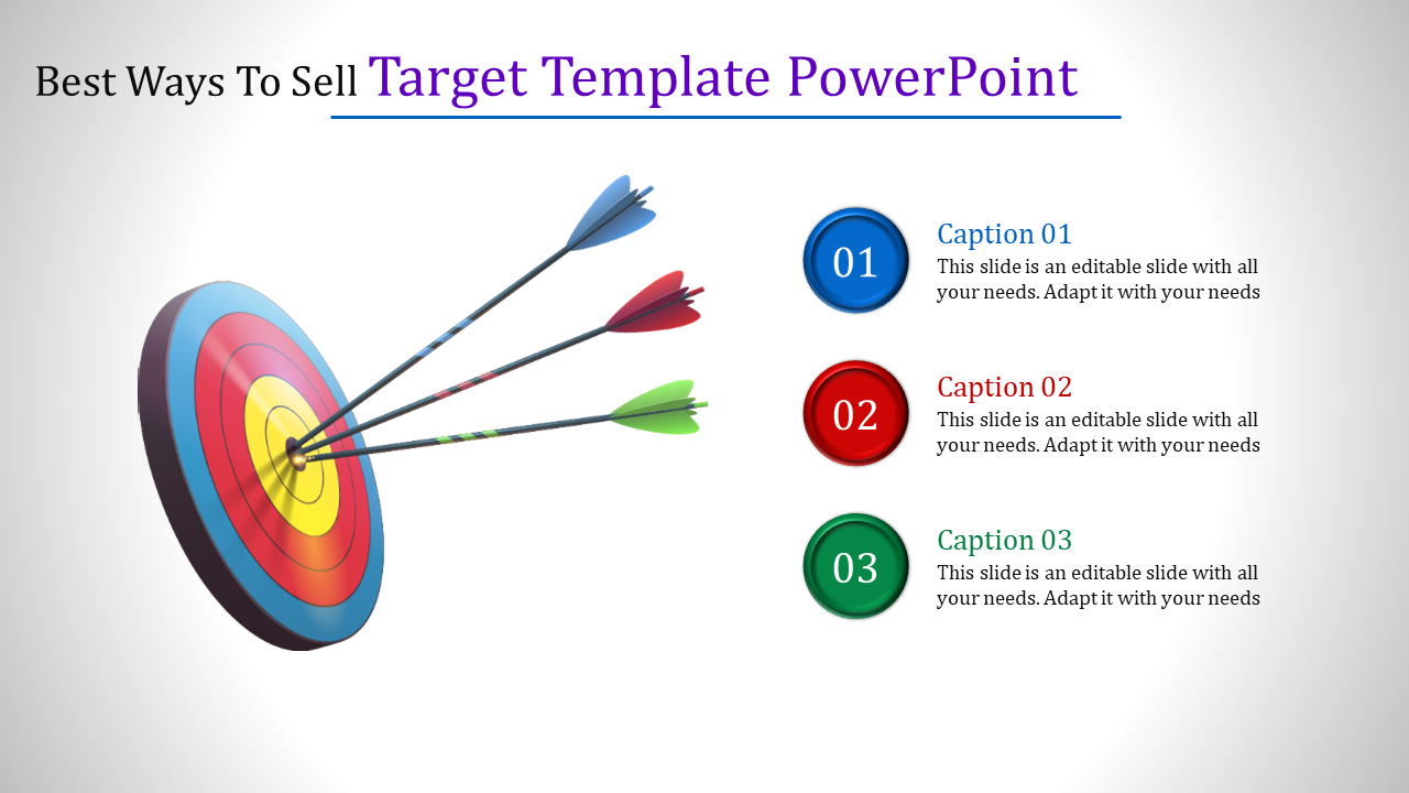 Target Template Powerpoint In Verticle