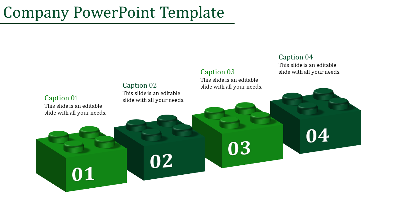 A Four Noded Company Powerpoint Template