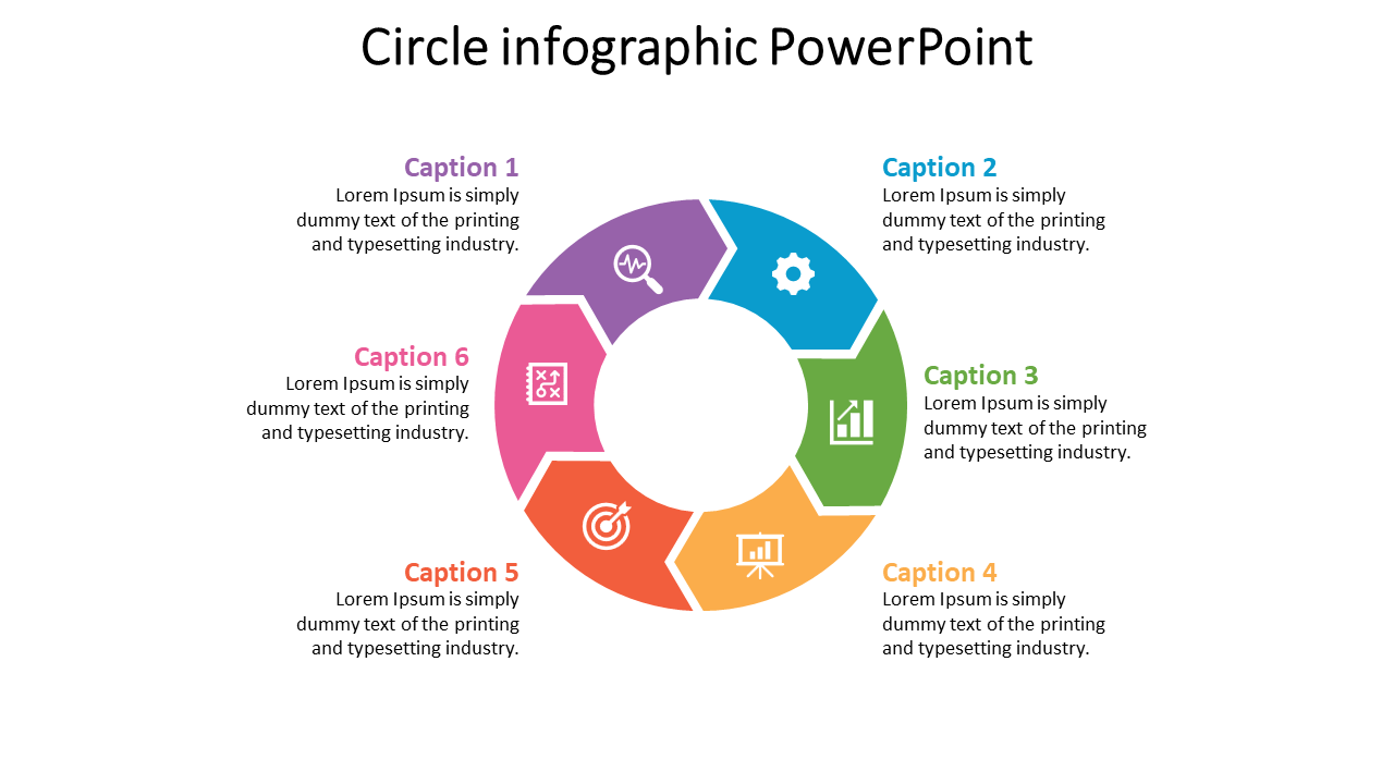 Circle Infographic Powerpoint With Arrow Diagram