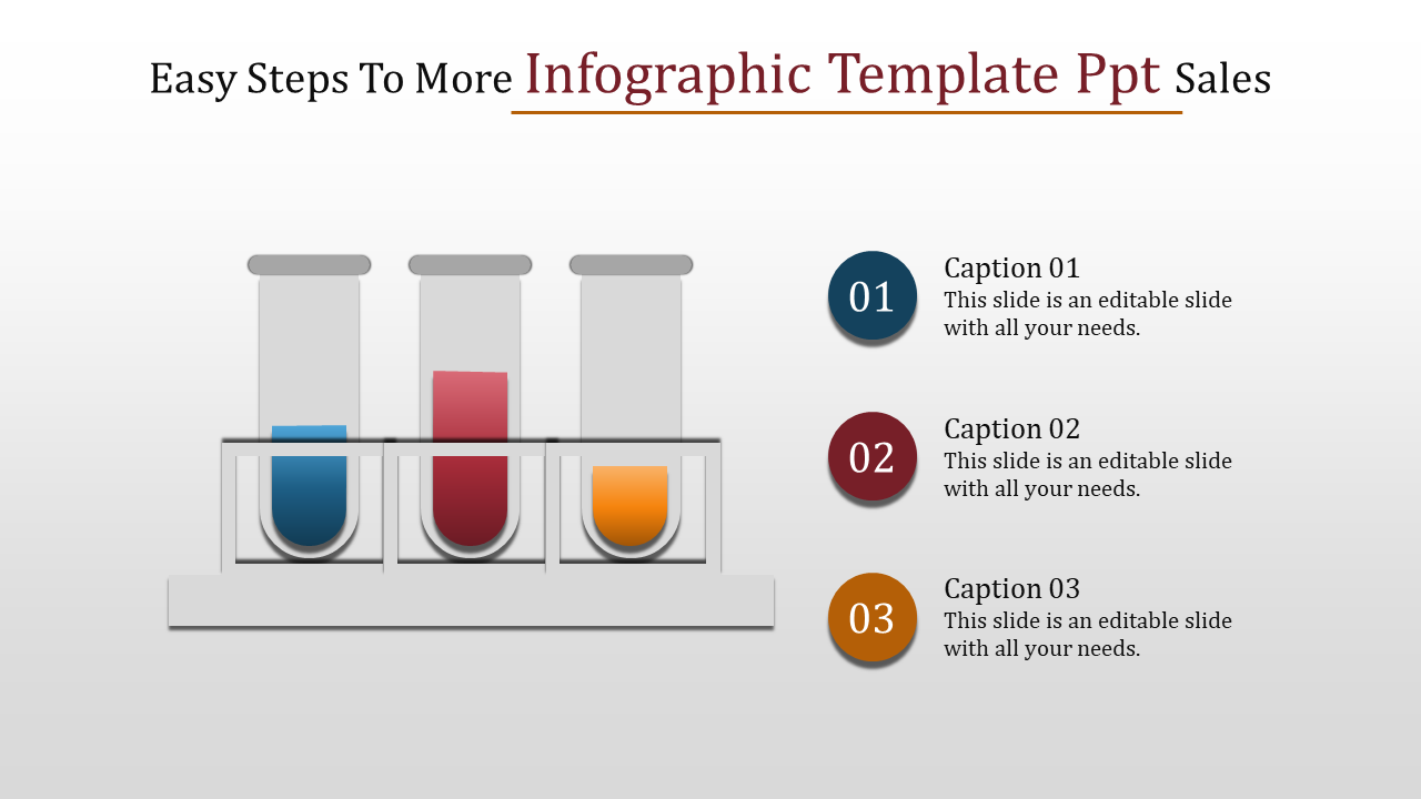 Slideegg Infographic Template Ppt Easy Steps To More Infographic
