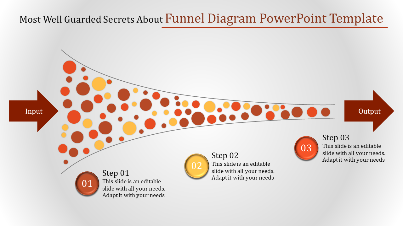 Profitable Funnel Diagram Powerpoint Template
