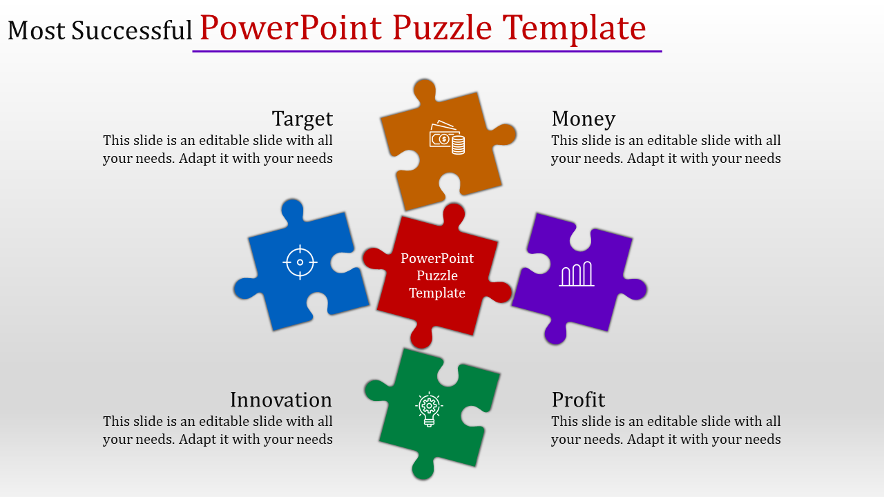 powerpoint puzzle template slideegg. Black Bedroom Furniture Sets. Home Design Ideas