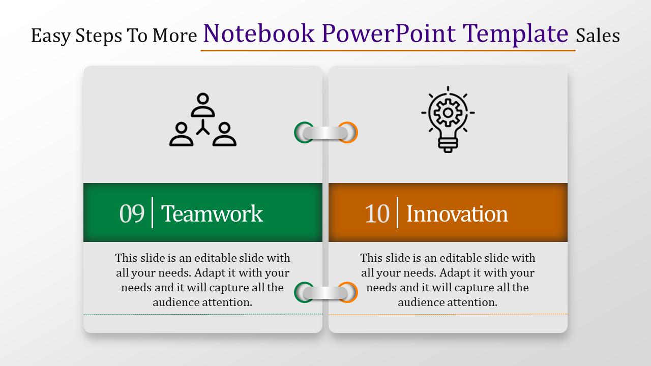 Notebook Powerpoint Template Design