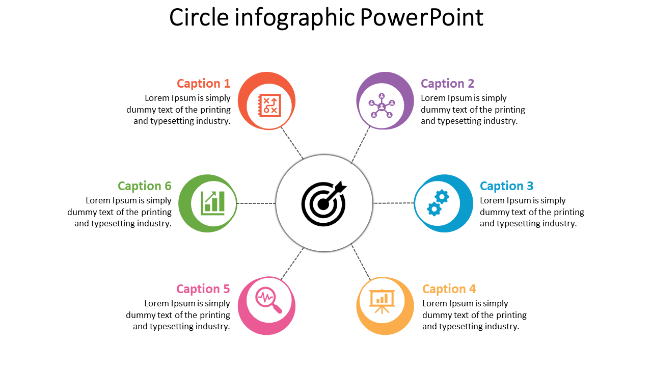 Circle Infographic Powerpoint For Clients
