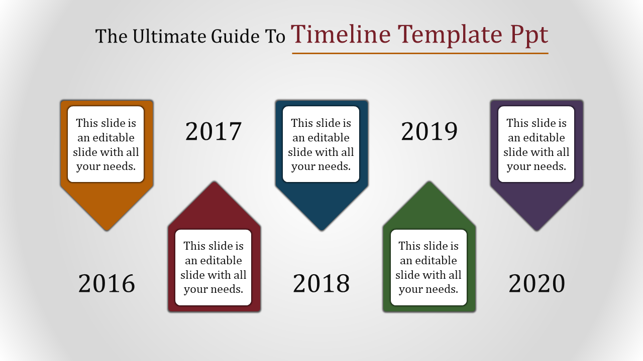 Timeline Template PPT - Cone Model